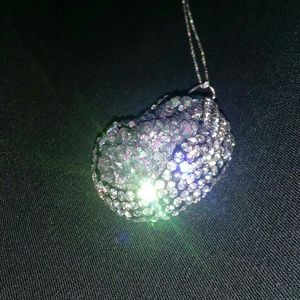 Jewelry - PINK DAWN DRUSY QUARTZ, AUSTRIAN CRYSTAL PENDANT